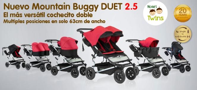 Nuevo Mountain Buggy Duet en Noari Twins