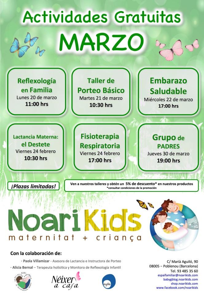 Actividades Gratuitas marzo 2017 NoariKids NK_mariposas_baja